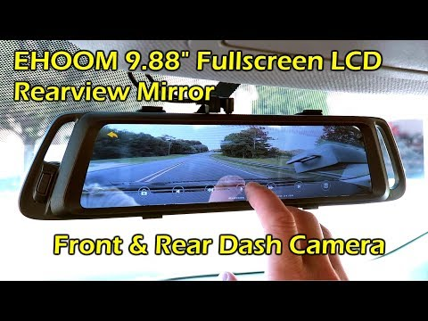 Dash Cam Front and Rear Full Touch Screen Video Streaming Rear View Mirror Camera,Night Vision Waterproof 1080P Rear Camera ACGEARY Backup Camera 10 Mirror Dash Cam