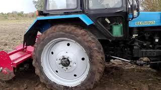 Новая Покупка Трактор Мтз 82 с почва фрезой по целине.