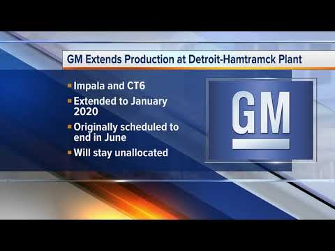 GM extends production at Detroit-Hamtramck plant