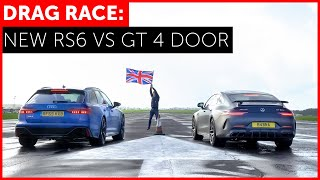 2020 Audi RS6 vs Mercedes-AMG GT 63 S 4 Door Drag Race