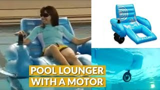 A Motorized Pool Lounger