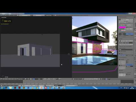 Casa Modelado en Blender