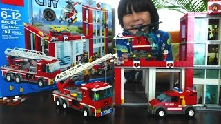 Building LEGO CITY FIRE STATION Set 60004 with Short Review