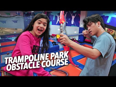 Trampoline Park Obstacle Course!! | Ranz and Niana