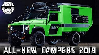 10 New Campers and Caravans Ranging from Offroad Capable to Luxury Models