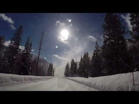 Winter driving in Yellowstone National Park