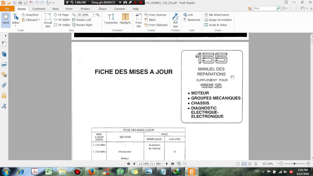 Alfa Romeo 155 Workshop Manual User Guide That Easy To Read 146 Fuse Box Repair Free Download Dhtauto Com Youtube Rh 169