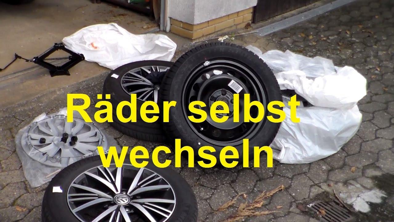 Rader Selber Wechseln Reifen Wechseln Abschrauben Tauschen