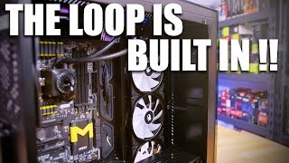 This case has a built in watercooling loop...