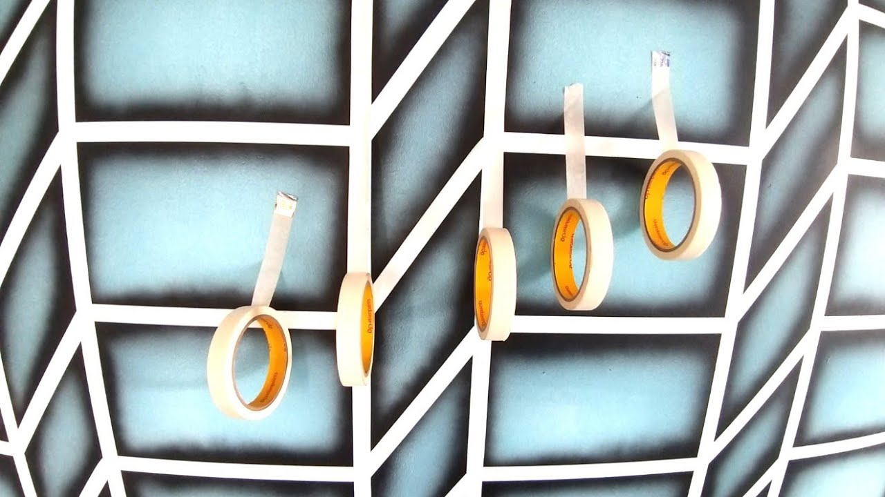 Wall Painting Design Ideas Asian Paints Masking Tape Geometric Pattern Youtube