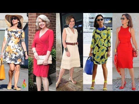 Омолаживающие платья для женщин 40-50 лет фото П�� Как одеваться летом 2018? Модная шпаргалка стиля