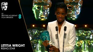 Letitia Wright Wins EE Rising Star & Delivers Heartfelt Speech | EE BAFTA Film Awards 2019