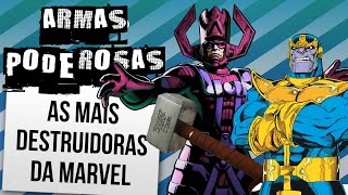 AS 10 ARMAS MAIS PODEROSAS DA MARVEL | Ei Nerd