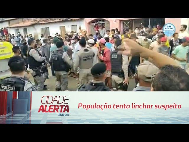 Menina estuprada e morta em Maravilha: População tenta linchar suspeito