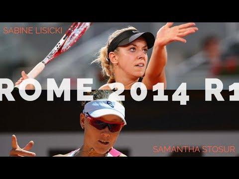 Sabine Lisicki Vs Samantha Stosur - 2014 Rome R1 Highlights