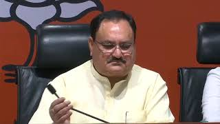 Press Conference by Shri J.P. Nadda at BJP Head Office, New Delhi