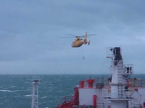 pilot recovery using helicopter in bad weather