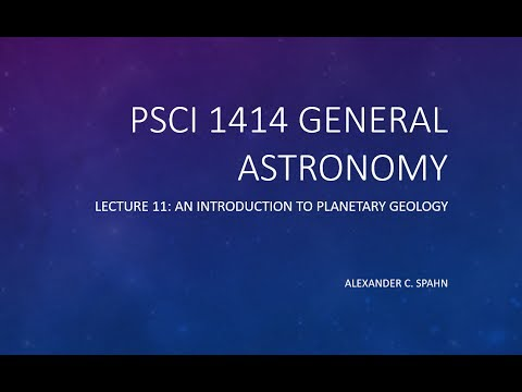 General Astronomy: Lecture 11 - An Introduction to Planetary