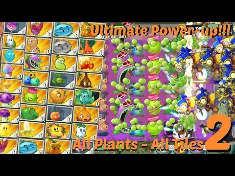 Plants vs Zombies 2 Epic Hack : All Plants All Tiles Starting Boost - Ultimate Power Up Part 2