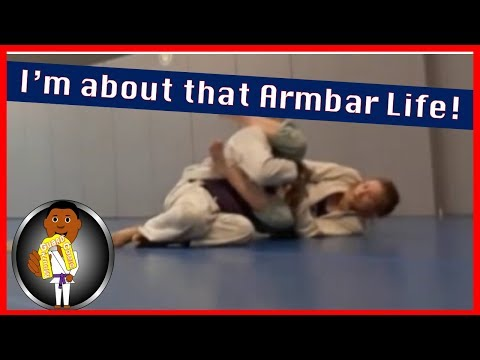 BJJ Roll No. 117 - Armbar Life - w/Paige at Smiley Academy - purple belt vs blue belt