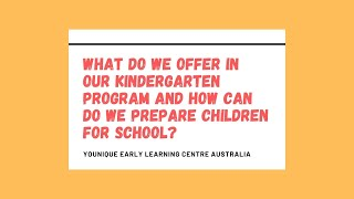 Q&A - What do we offer in our kindergarten program and how can do we prepare children for school?