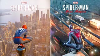 Spiderman Miles Morales vs Spiderman PS4 | In Depth Side by Side Comparison