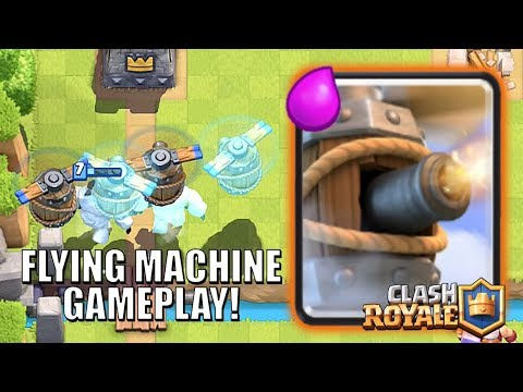 FLYING MACHINE GAMEPLAY - NEW CARD GUYS! • Clash Royale