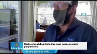 Reabren los clubes Alpha tras cinco meses de cierre por pandemia