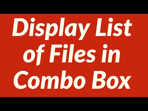 Display List of All Files in folder in Combo Box