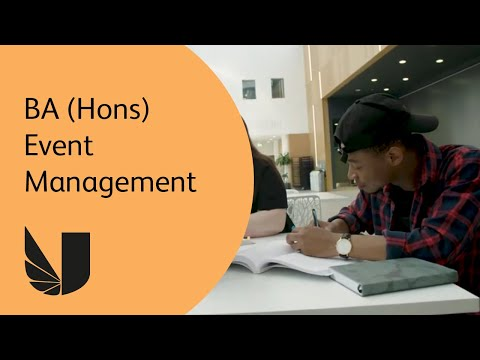 BA (Hons) Event Management at the University of West London