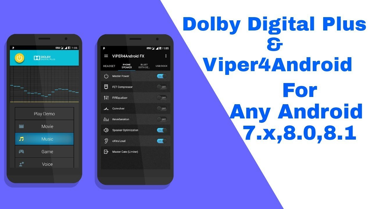 Install Dolby Digital Plus & Viper4Android On Android-7 x,8 0,8 1 [How To]