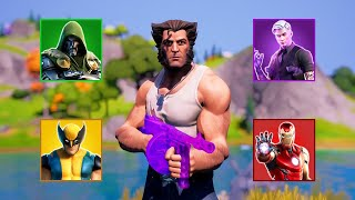 Fortnite Eliminating All Mythic Bosses in One Game (Shadow Midas, Iron Man, Doctor Doom & Wolverine)