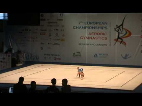 EM 2011 Sports Aerobics  Julia Kunert-Germany