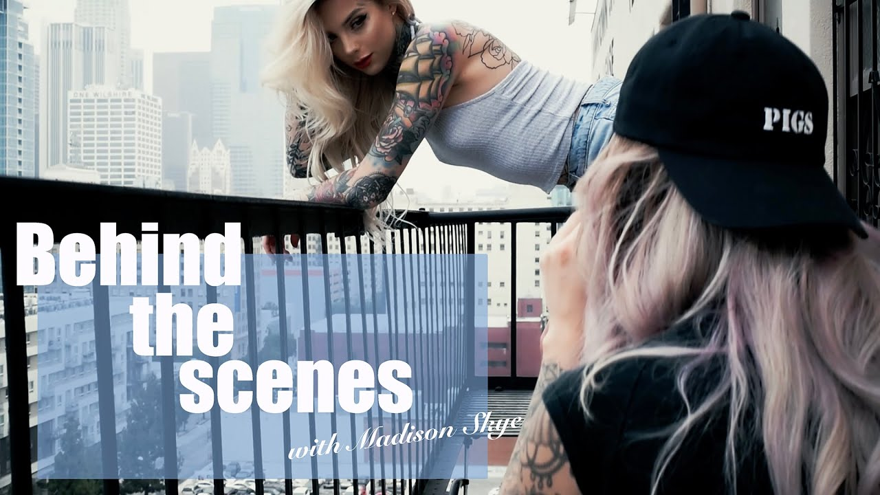 BTS Photoshoot with tattoo model Madison Skye for Inked Magazine ...