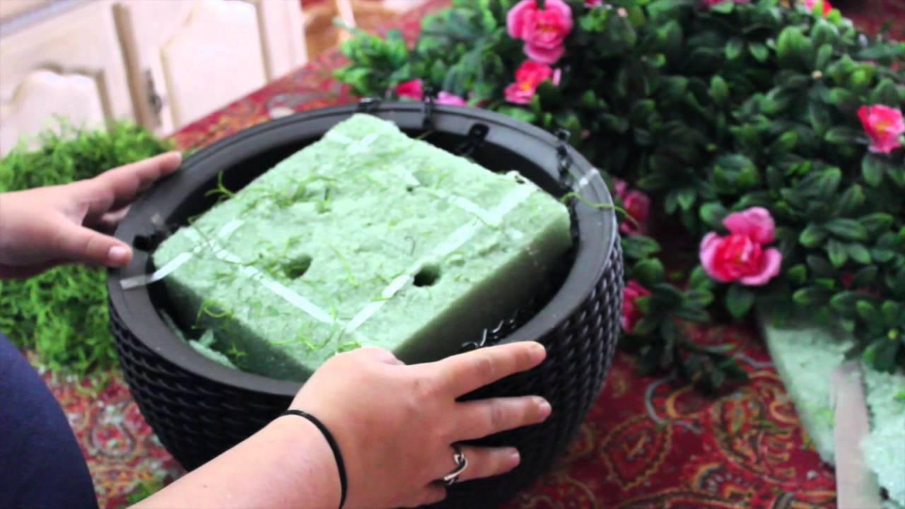 Youtube Hanging Flower Baskets : Diy azalea hanging basket