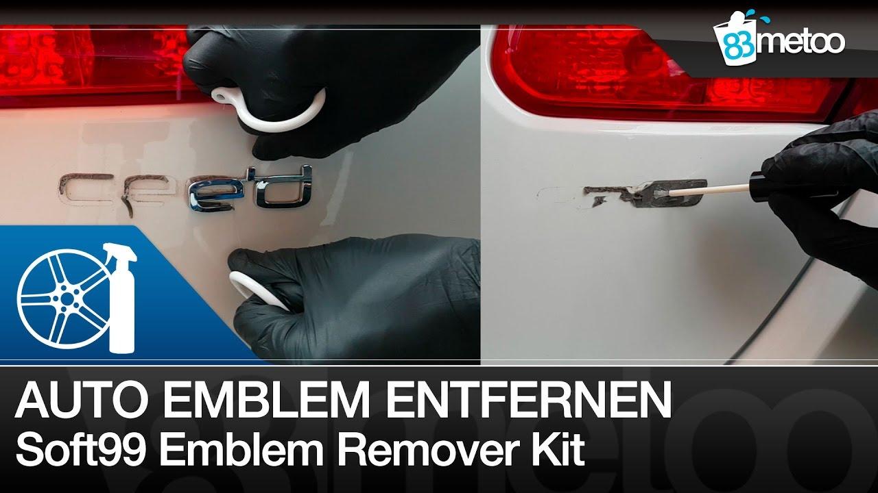 Schriftzug Entfernen Auto Emblem Bzw Logo Spurlos Entfernen Soft99 Emblem Remover Kit