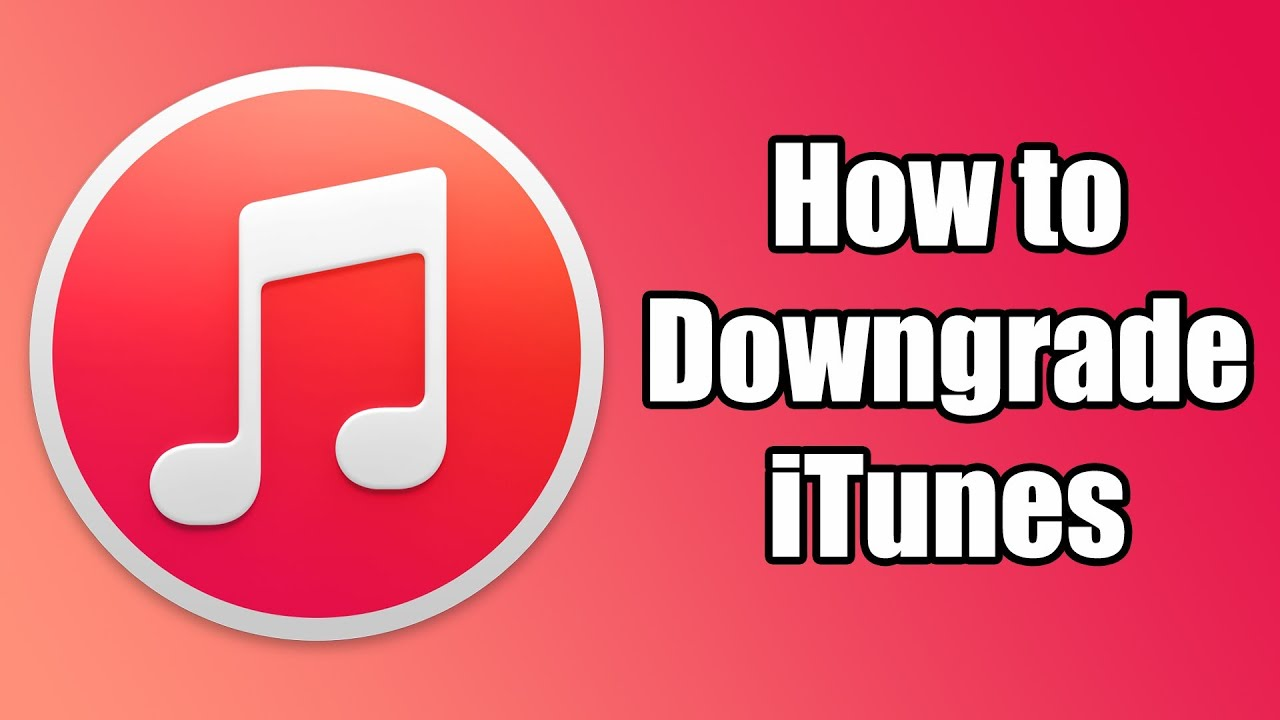 How To Downgrade iTunes from version 12.3.2 back to the version 12.0.1 (Very Simple)