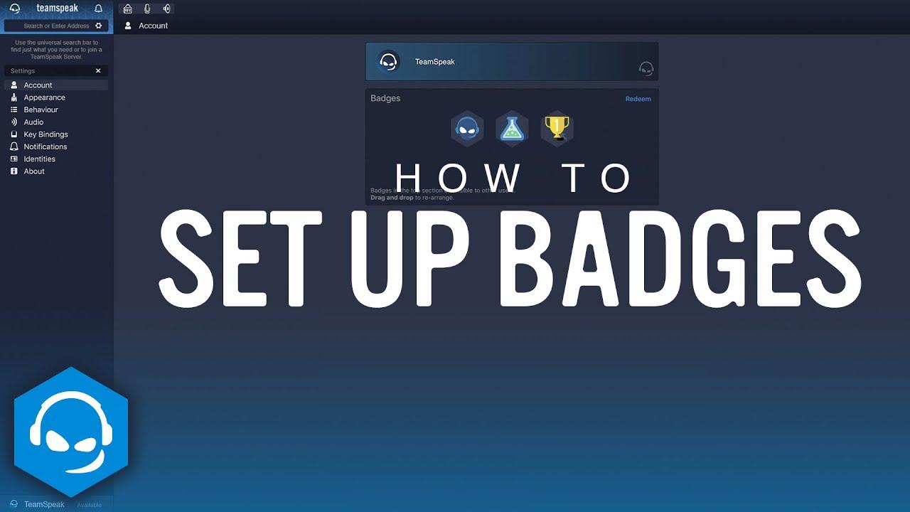 How to Set up Badges on TeamSpeak