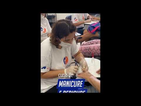CURSO DE MANICURE E PEDICURE COM UNHAS DE GEL