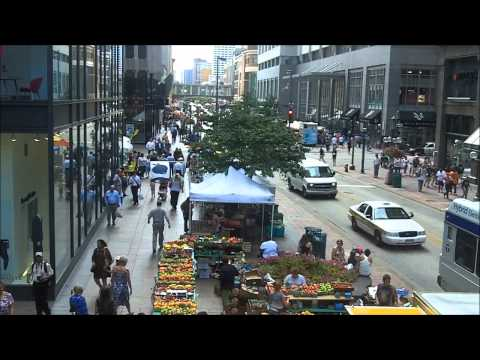 Downtown Minneapolis Farmer's Market timelapse 2