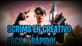 PLAYING SCRIMS IN CREATIVE FORTNITE // live // direct // Spanish // free TEAM ZTE