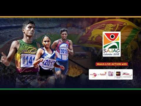 South Asian Junior Athletic Championship, Colombo 2018 - Day 2
