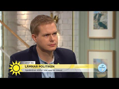 """Fridolin lämnar politiken – """"Jag vet vad jag längtar efter"""" - Nyhetsmorgon (TV4)"""