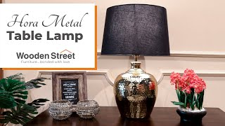 Best Bedside Table Lamp | Hora Metal Table Lamp Design | Lamps and Lighting by WoodenStreet