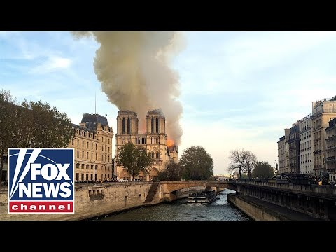 Live: Fire at Notre Dame Cathedral in Paris, France