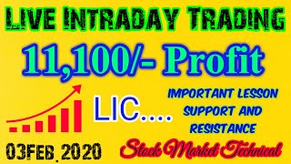 Live Intraday Trading || 03Feb.2020. || Stock Market Technical.|| Live Intraday Trading Strategy.