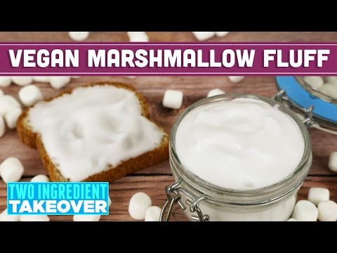 Two Ingredient Vegan Marshmallow Fluff | Aquafaba Recipe - Mind Over Munch