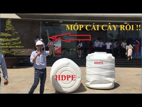 Thử độ bền Bồn nhựa HDPE Plasman 1000 lít của Tân Á Đại Thành