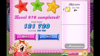 Candy Crush Saga Level 970     ★★★   NO BOOSTER