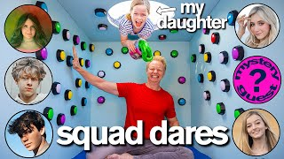 100 MYSTERY BUTTONS Father vs Daughter ft/ Piper Rockelle Dares & Mystery Guest